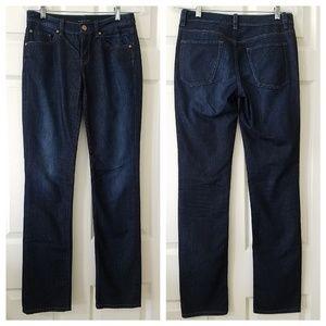 Elie Tahari Adena Straight Jeans size 4 Dark wash